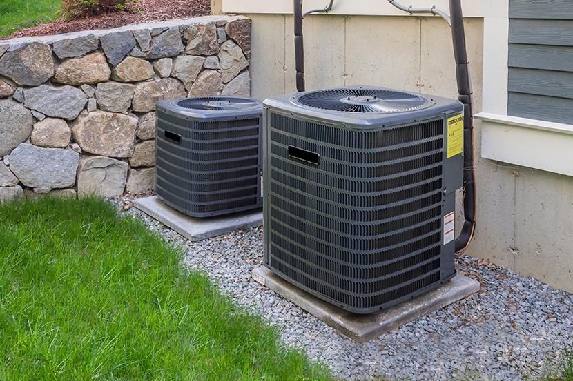 hvac conditioner units outside a residential home